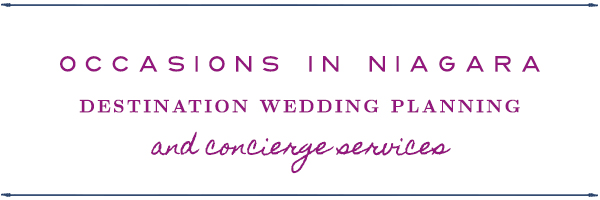 Occasions in Niagara Wedding Planning