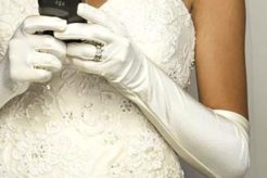 wedding planning on cell phone